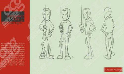 案例分享:击剑boy用独特灵感征服CCA瑞林普瑞特萨凡纳众多动画名校