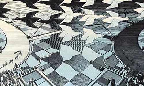 《纪念碑谷》灵感来源:视错觉艺术大师——埃舍尔
