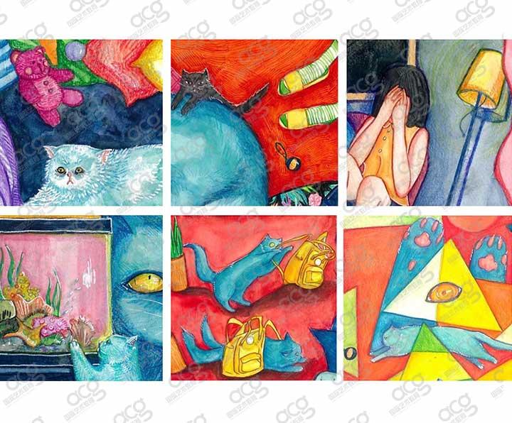奖学金5000-纽约视觉艺术学院SVA-插画-本科-周天一-ACG国际艺术教育