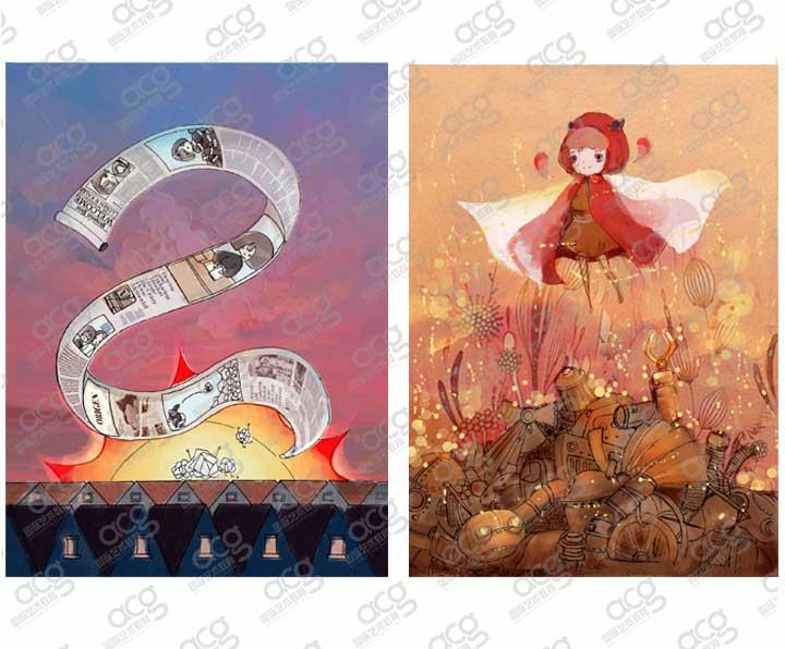 奖学金14000-纽约视觉艺术学院-插画-本科-周懿-ACG国际艺术教育