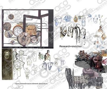 国贸校区-郭静-戏服设计-伦敦艺术大学UAL伯明翰城市大学爱丁堡大学-硕士